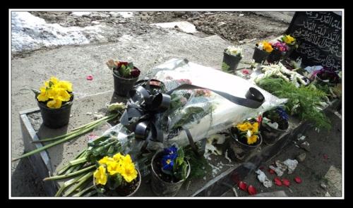 ادای احترام مردم به شهید جعفر کاظمی در چهلمین روز شهادت اش